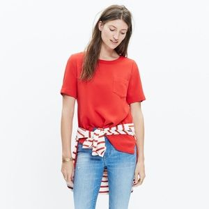 Madewell Industry Button Back Top in Red Size XXS